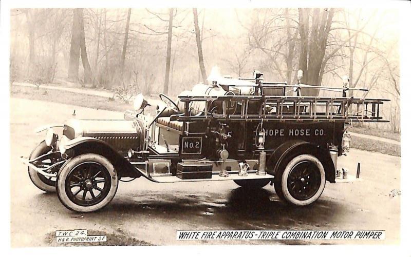Fire Apparatus Truck motor pumper real photo