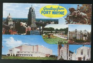 Greetings from Fort Wayne Indiana IN 1962 Postcard