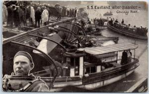 Chicago, Illinois Postcard S.S. Eastland, After Disaster 1916 Cancel