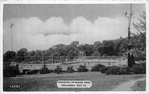Dexter Follansbee West Virginia Municipal Swimming Pool 1930s Postcard 21-53