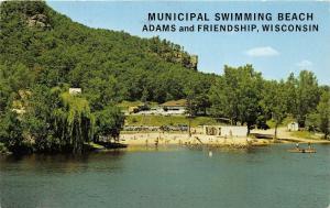 Adams-Friendship Wisconsin~Municipal Swimming Beach~Children Playing~1975 PC