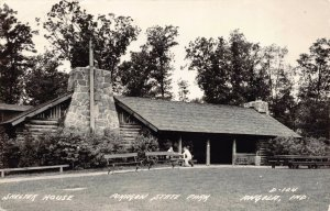 Real Photo Postcard Shelter House at Pokagon State Park in Angola Indiana~124469