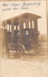 E25/ Baltimore & Ohio B&O Ohio Real RPPC Postcard Railroad Car Charles Espring