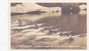 RP: Artic Sports - an Eskimo kayak race at Port Burwell , Hudson Strait , N.W...