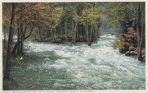 YOSEMITE VALLEY, California, 1900-10s; Merced River and Happy Isles