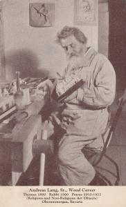Oberammergau , Germany , 1922 ; Actor & Wood carver Anton Lange Sr