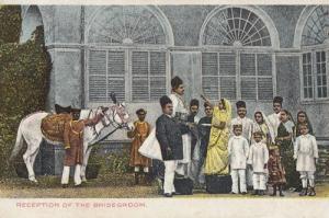 India Wedding Reception Of The Bridegroom Old Postcard