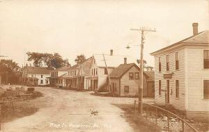 Princeton ME Main Street Storefronts Harness Shop RPPC Real Photo Postcard