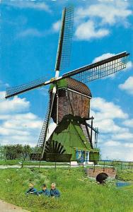Netherlands Moulin a Vent, Bridge Dutch Windmill Hollandse Molen