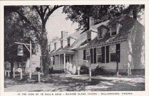 At The Sign Of Ye Bull's Head Richard Bland Tavern Williamsburg Virginia