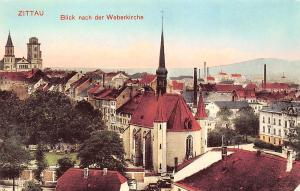 Germany Zittau Blick nach der Weberkirche, church, eglise, iglesia
