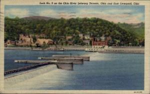 Ohio River East Liverpool OH 1950