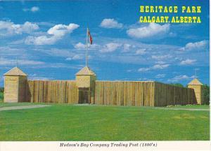 Canada Alberta Calgary Hudson's Bay Company Trading Post Heritage Park