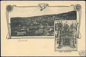 israel palestine NAZARETH Panorama, Saint Sepulcre 1899