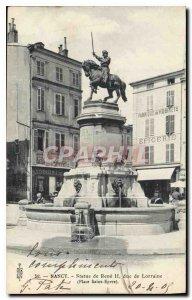 Postcard Old Statue Nancy Renee II Duke of Lorraine Place Saint Epvre