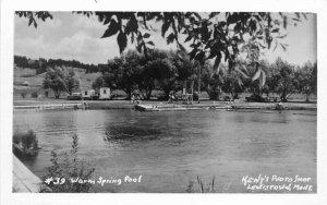 Kents Photo Warm Springs Pool Lewistown Montana 1950s RPPC Postcard 21-1886