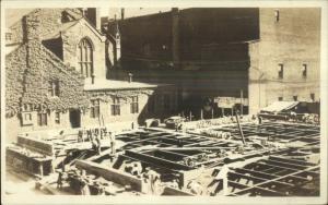 Hartford CT Building Construction c1910 Real Photo Postcard