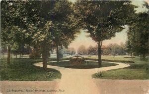 Lansing Michigan~Industrial School Grounds~Circle Path~1910 Postcard