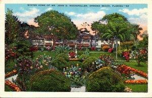 Florida Ormond Beach Winter Home Of John D Rockefeller