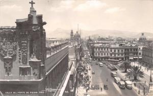 CALLE del MONTE de PIEDAD MEXICO CITY~YANEZ #46 REAL PHOTO POSTCARD 1940s
