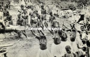 new hebrides, Vanuatu, Pentecost Island, Nude Women Dancing Last Jump (1950s) 2