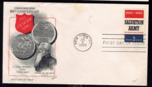 1965 US Sc #1267 FDC Salvation Army IssueGreat Condition.Jul 2,19...