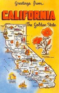 California USA Greetings From Unused