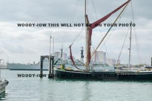 mp161 - HMS Exeter off to breakers & Sailing Barge Alice - photo 6x4