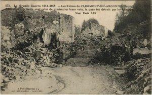 CPA CLERMONT-en-ARGONNE Les Ruines (119409)