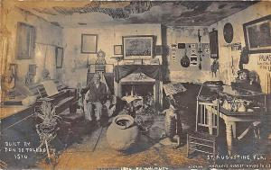 St Augustine FL Don DeToledo's 1516 House Interior RPPC Postcard