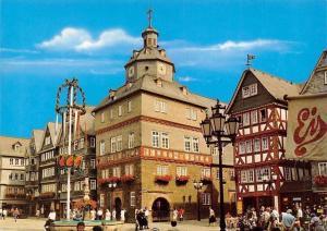Herborn an der Dill, Town Hall and Market Place, Marktplatz mit Rathaus Brunnen
