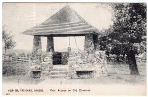 Ashburnham, Mass, Well House on Old Common
