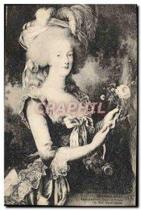 Old Postcard Versailles Marie Antoinette