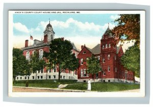 Knox County Court House and Jail, Rockland ME c1920 Postcard K1