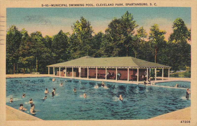 Swimming Pool , Cleveland Park , SPARTANBURG , South Carolina , 30-40s