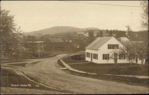 Union ME Road & Homes c1910 Real Photo Postcard