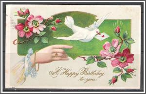 A Happy Birthday To You - Flowers - Embossed - [MX-199]
