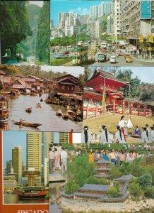 Asia Hong Kong Taiwan Singapore Japan Streetviews Postcard Lot of 49 01.18