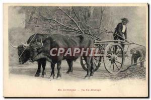 Old Postcard hitch Auvergne