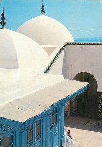 Tunisia sidi bou said yard of the mosque Postcard