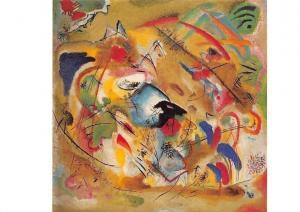 Wassily Kandinsky, Traumerische Improvisation Reverie Postcard