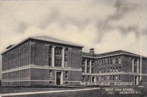 New York Rochester West High School 1908