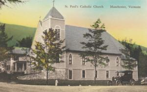 MANCHESTER, Vermont, 1900-10s; St. Paul's Catholic Church