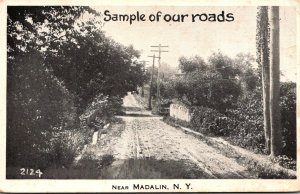 New York Sample Of Our Roads Near Madalin 1916