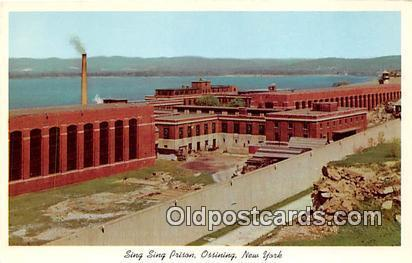 Sing Sing Prison Ossining, New York USA Prison Postcard Post Card Ossining, N...