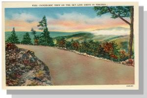 Skyline Drive,Panoramic View,Virginia/VA Postcard,Near Mint!