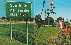 South Carolina South Of The Border Welcome Sign and Garden