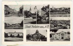 RP  Stadt Hollabrunn, N.O., Austria, 1940s 9-view postcard