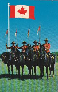 Canada Royal Canadian Mounted Police with New Canadian Flag