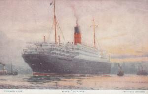 Oceanliner/Ship/Steamer, Cunard Line, R. M. S. Scythia, 1900-10s